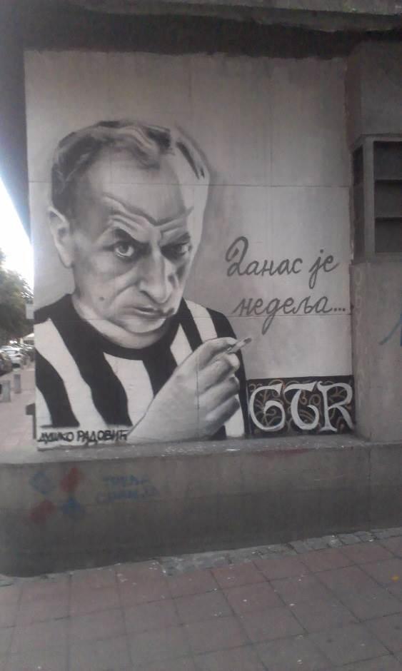 Duško Radović, mural
