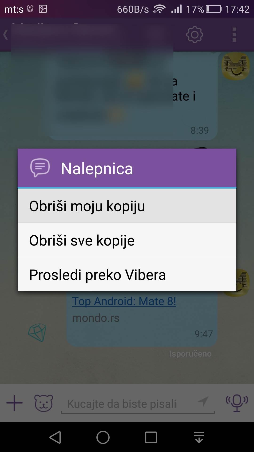 Vrlo zgodan Viber trik: Brisanje poslatih poruka
