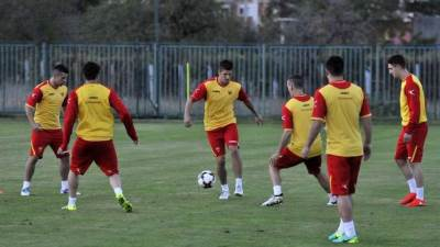 Jovetić Jovetic sokoli Crna Gora fudbaleri trening