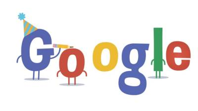 Google, 16ti rodjendan, logo