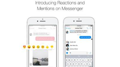 Facebook Messenger Reactions Mentions