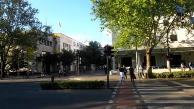 Podgorica grad semafor centar šetnja Hilton