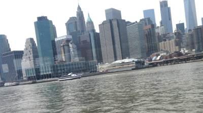 njujork, zgrade, reka