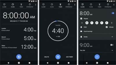 ALarm, Aplikacija ALarm, Android Oreo