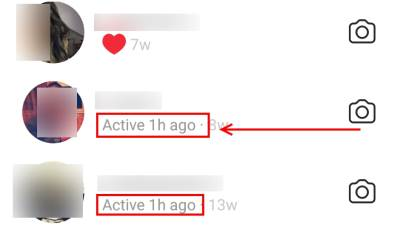 Instagram, Status, Active, Last time seen