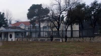 bomba, američka ambasada, podgorica, uviđaj