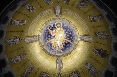 hram svetog save, kupola, isus hrist, crkva, vera