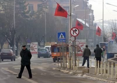 kosovo, priština, albanske zastave