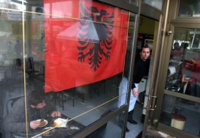 kosovo, albanija, albanska zastava, priština