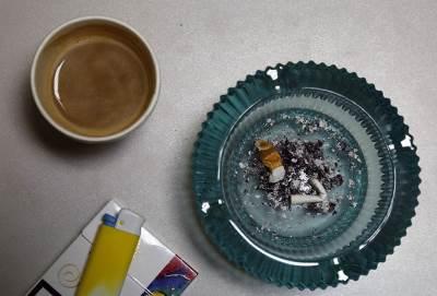 cigareta, pušenje, cigarete, pepeljara, kafa