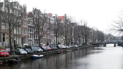 holandija, amsterdam, kanal
