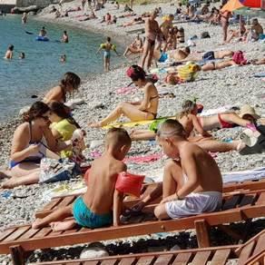 More, plaža, kupači, Šušanj, pupanje, ljeto
