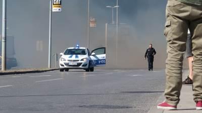 Požar, vatra, policija