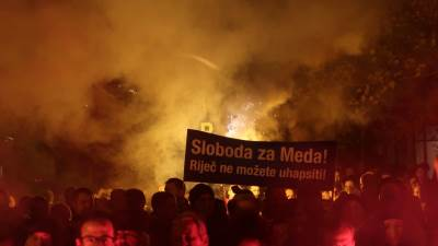 Protest Demokratskog fronta