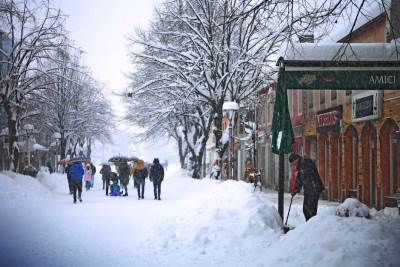 snijeg u Nikšiću