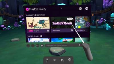 HTC Vive Firefox Reality VR