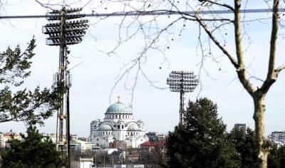 hram svetog save, reflektori, stadion jna