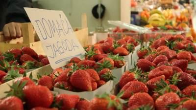 jagode, voće, pijaca