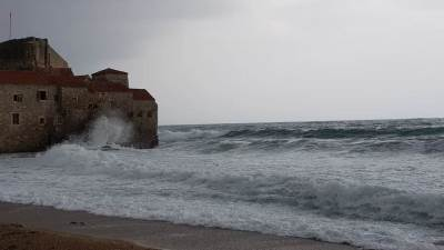 more, Budva, talasi, vrijeme, premenska prognoza, plaža, oblac, oblačno