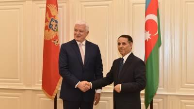 Duško Markovič, posjeta Azerbejdžanu