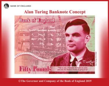 Centralna banka Engleske, Alan Tjuring 50 funti
