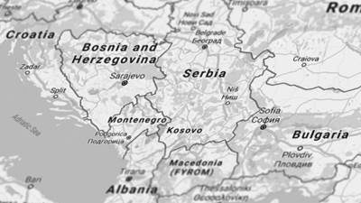 Balkan mapa
